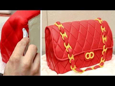Fashion Bag Cake - How To Make   Torta Bolso by CakesStepbyStep ... 7fd7d22688
