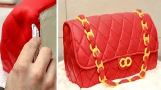 Fashion Bag Cake - How To Make / Torta Bolso by CakesStepbyStep