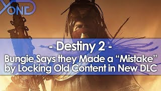 Bungie Backs Off on Locking Old Destiny 2 Content Behind DLC & Admits