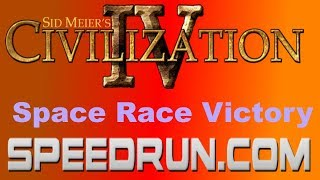 Sid Meier's Civilization IV Space Race Victory Speedrun (0 AI Category) in 26:37.80 [World Record]