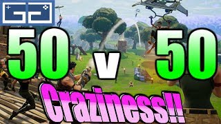 Fortnite 50 v 50 V2 Craziness! This Super Cool Fun LTM Is Easily My Favorite!