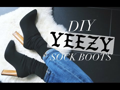 DIY: YEEZY INSPIRED SOCK BOOTS! | rachspeed