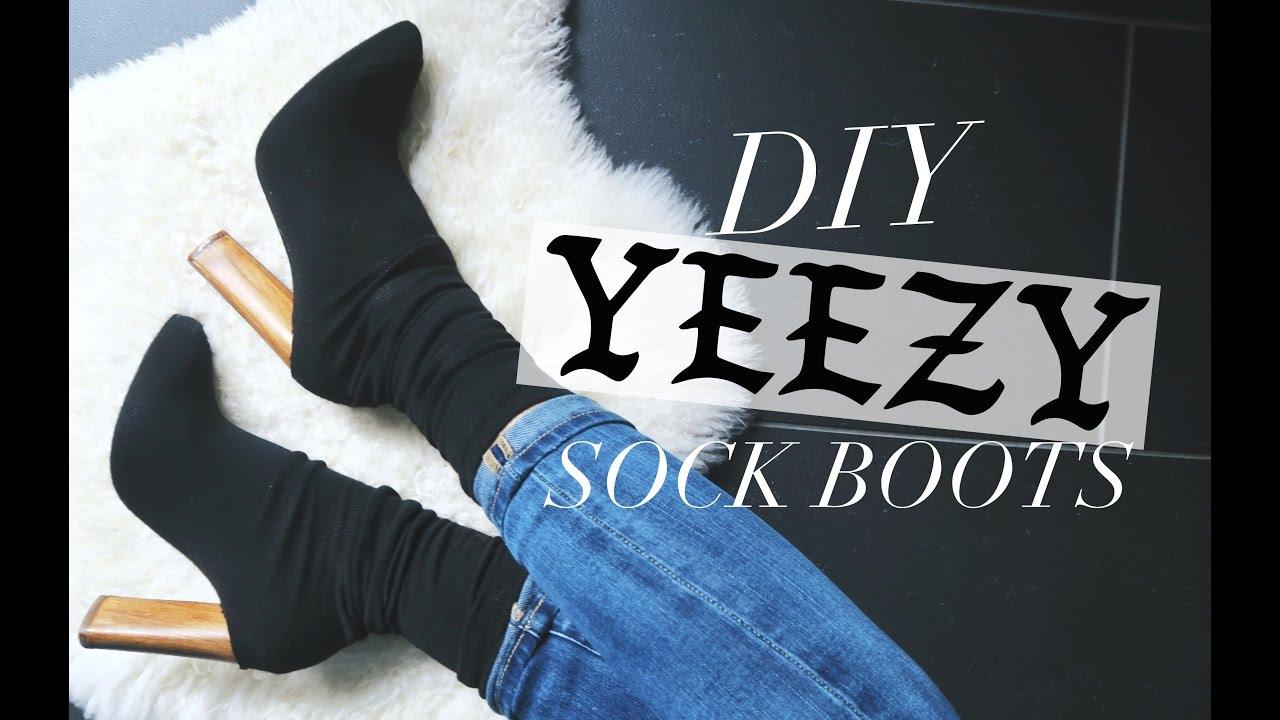 brand new 6896a ddfbd DIY: YEEZY INSPIRED SOCK BOOTS!   rachspeed