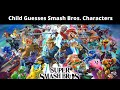 Child Guesses Smash Bros Characters