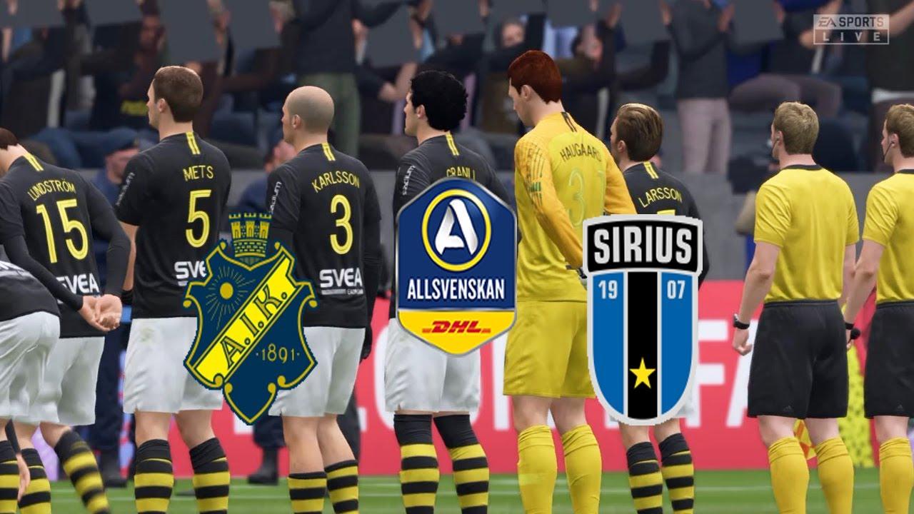 Fifa 20 Sweden Allsvenskan Aik Vs Ik Sirius Friends Arena Round 2 Youtube