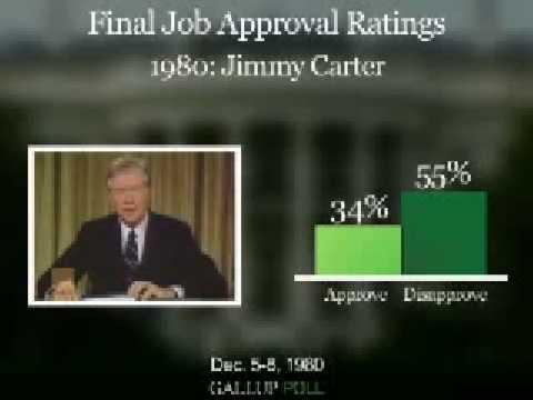 Final Job Approval Ratings: Bush vs. Past Presidents