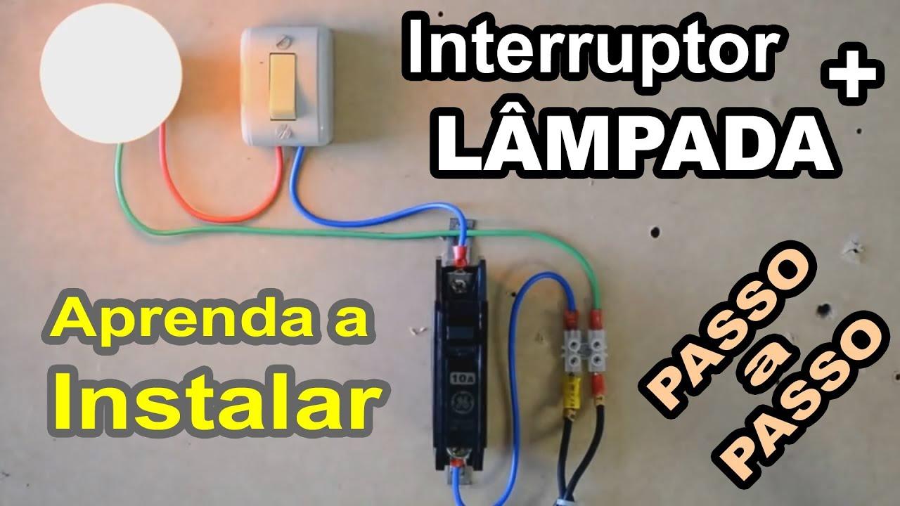 Como Instalar Interruptor e Lâmpada Passo a passo   #C1C10A 1920 1080