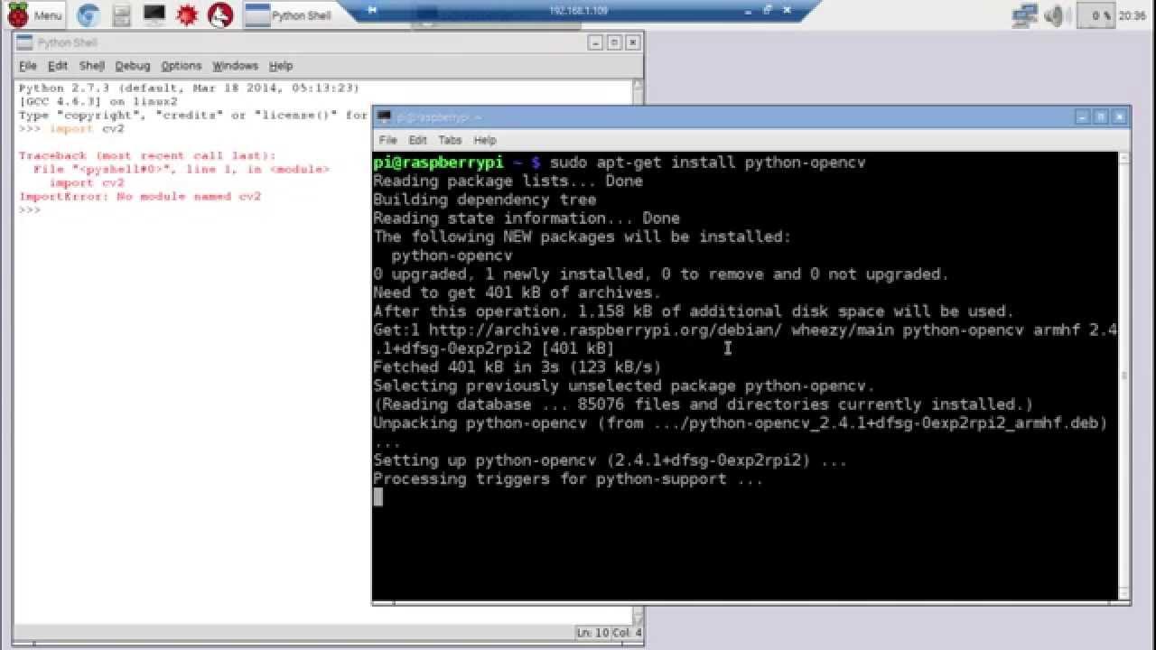 Install OpenCV 2 on Raspberry Pi/Python 2