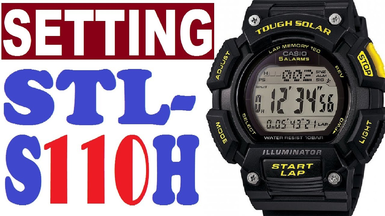 1f0369d41432 Setting Casio STL-S110H manual 3441 for use - YouTube