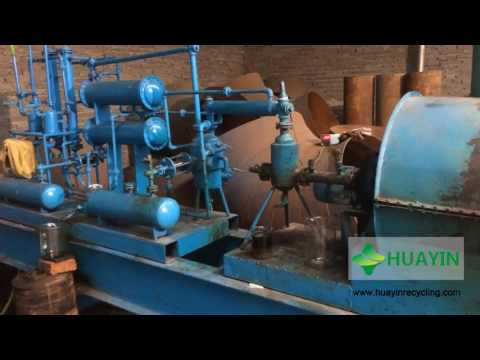 Huayin Waste Plastic to Oil Pyrolysis Plant Test