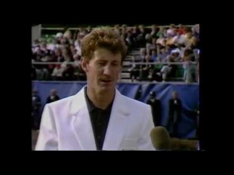 Andrew Murray wins the Panasonic European Open 1989