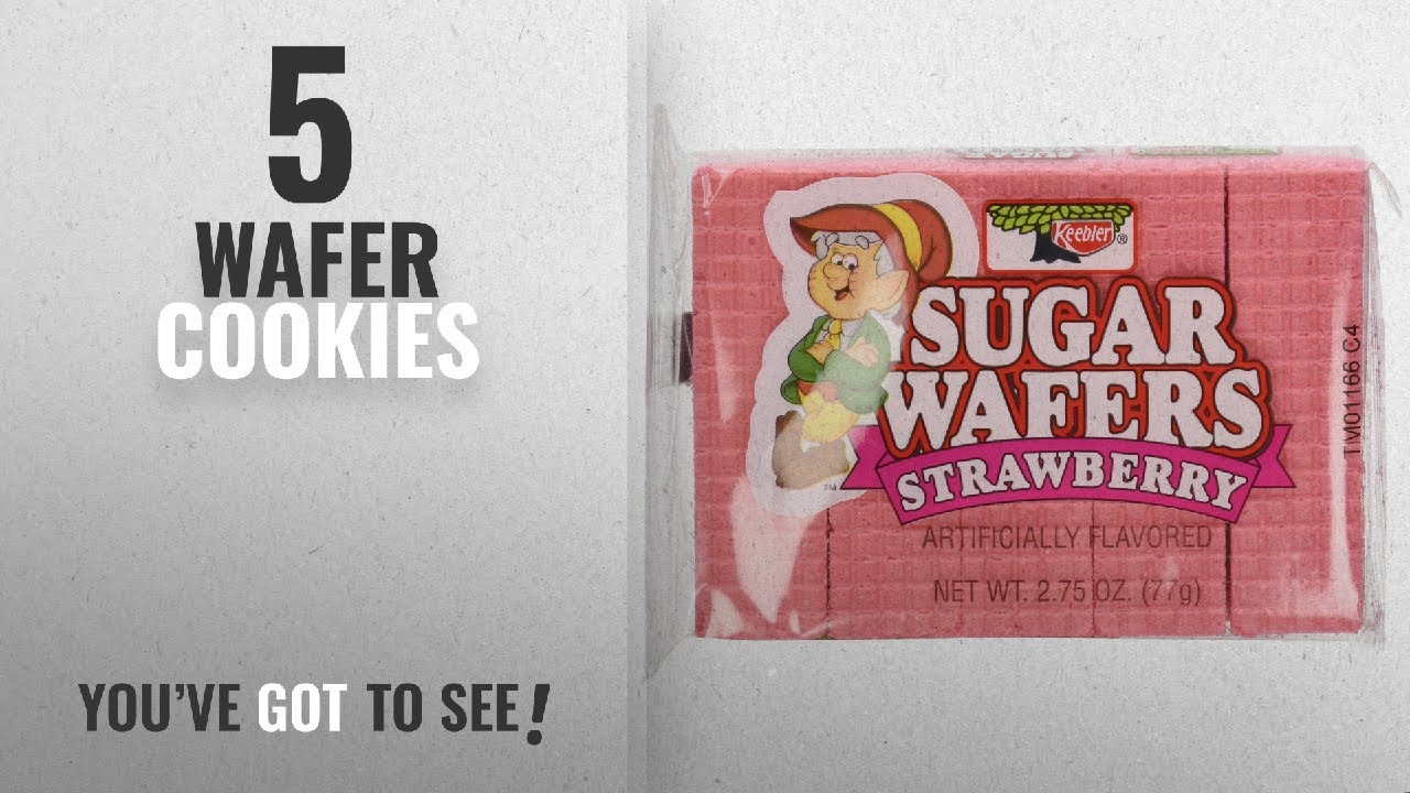 Best Wafer Cookies [2018]: Keebler Strawberry Sugar Wafers Twelve ...