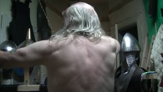 MEDIEVAL ARCHERS BODY TRANSFORMATION. PRIMITIVE ENGLISH LONGBOW