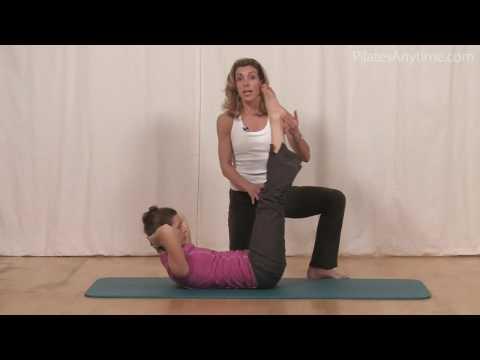 Pilates Exercise Double Straight Leg
