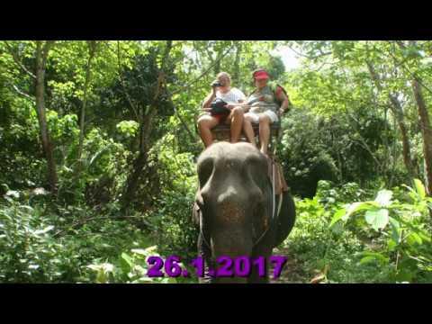 Southern Thailand  2017 - Koh Lanta - ride on elephants