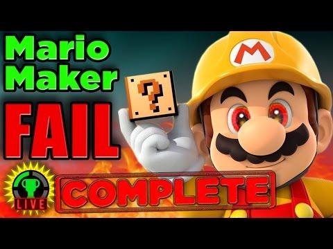 GTLive: Mario Maker Pro Tip FAIL!...
