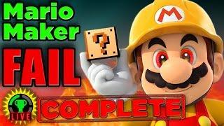 GTLive: Mario Maker Pro Tip FAIL! (COMPLETE)