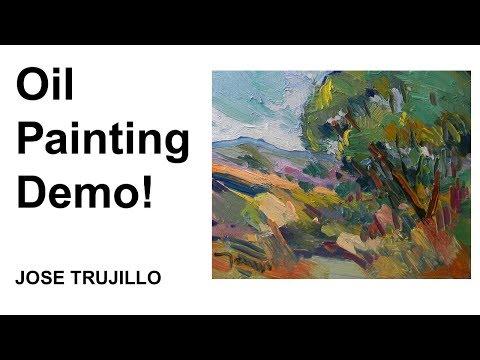 Oil Painting Demo! Fauvist, Impressionistic, Landscape by Jose Trujillo Artist