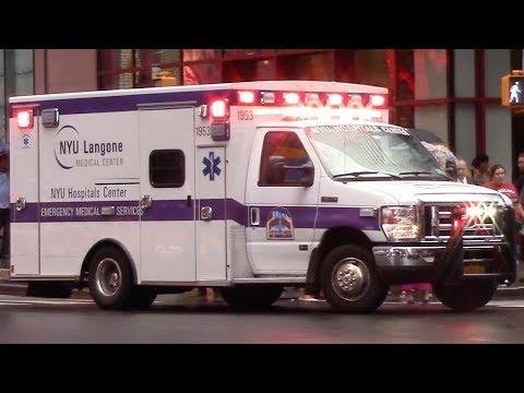 NYU Langone Medical Center Ambulance 1953 Responding And FDNY Gators Taking Up 8-15-17