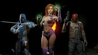 Injustice 2 - Sub-Zero, Red Hood & Starfire DLC Trailer