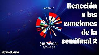 #ESC2020 : Reacción a las canciones de la Semifinal 2