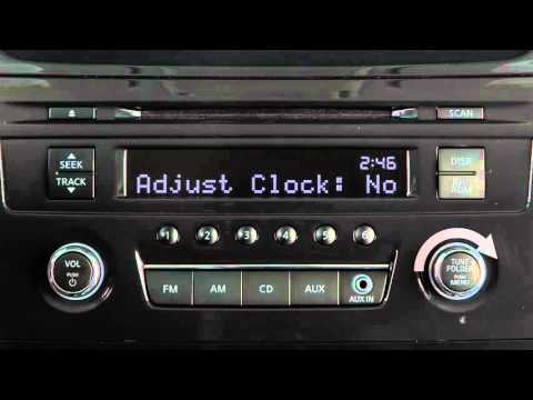 2016 Nissan Altima - Setting the Clock without Navigation Type A (if so  equipped)