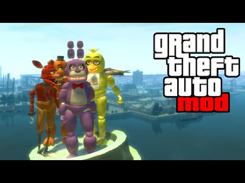 "FIVE NIGHTS AT FREDDY'S 4 MOD! - ""FNAF 4"" GTA IV PC Mods Fan Made Gameplay! (GTA IV PC Mods)"
