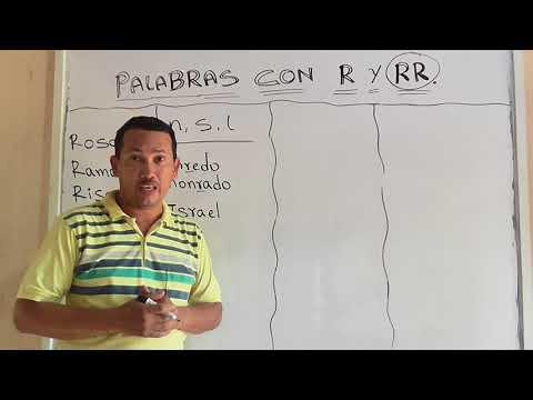 PALABRAS CON R Y RR  - QUÉ PALABRAS SE ESCRIBEN CON DOBLE R