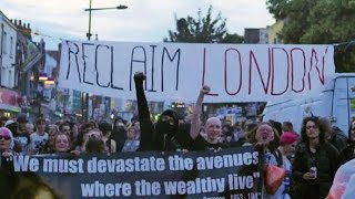 Class War in Camden: anti-gentrification rally clash with riot police