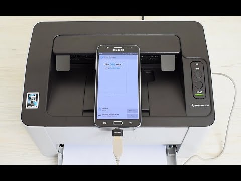 How To Print From Any Android Smartphone Or Tablet Via USB Cable OTG Printing