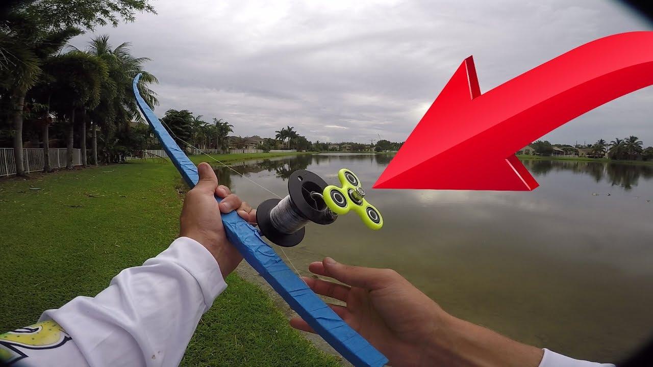 DIY FIDGET Spinner FISHING ROD - YouTube