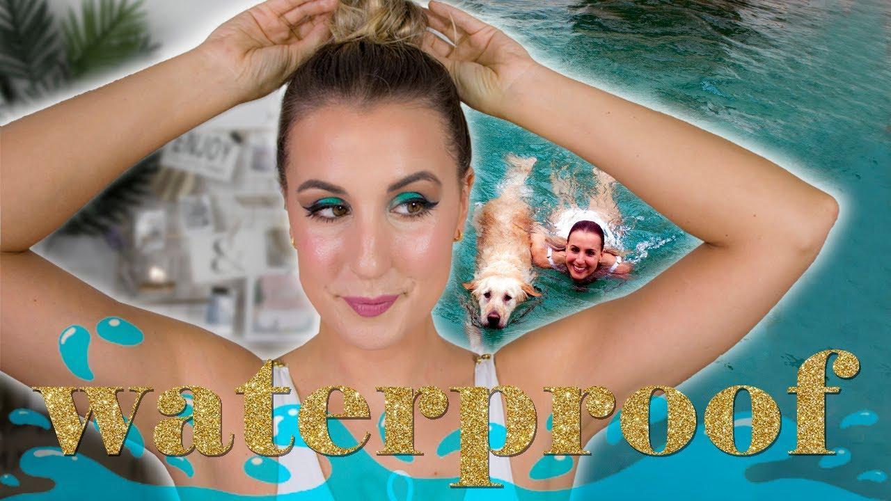Probando maquillaje waterproof con chapuzón incluído - Al agua patos, almas y ríos