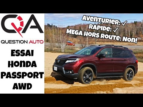 Essai Honda Passport AWD | Capable, rapide et meilleur qu'un Honda CR-V!