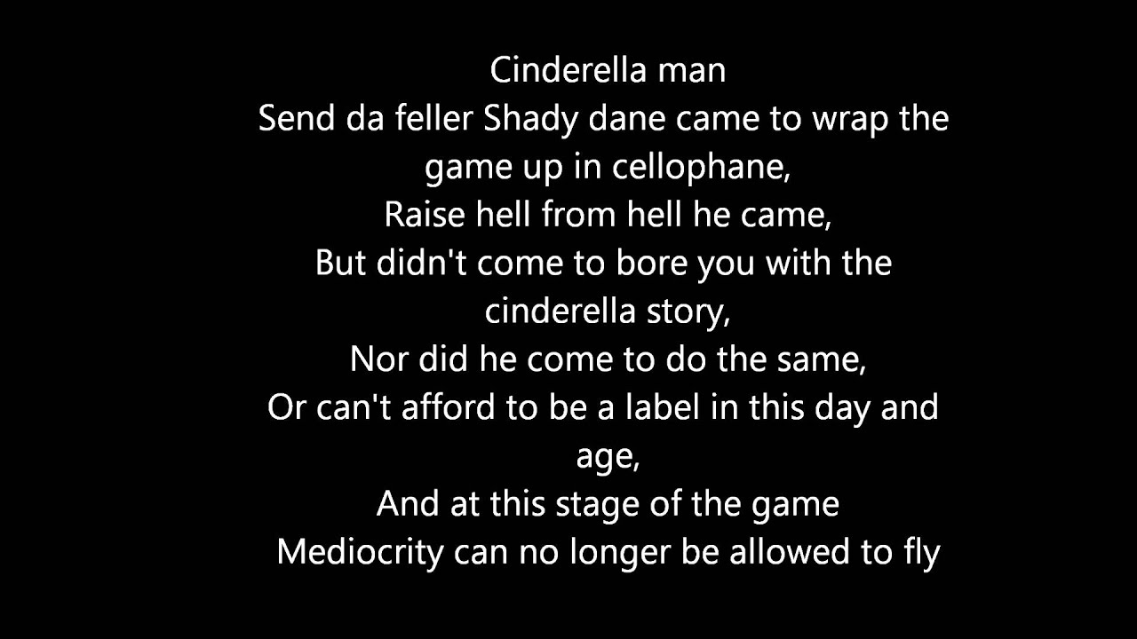 Cinderella Man Quotes Fascinating Cinderella Man  Eminem Lyrics Dirty  Youtube