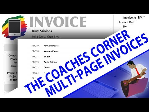 FileMaker Coaches' Corner - Tip 3 - Multipage Invoices - Multipage Printing