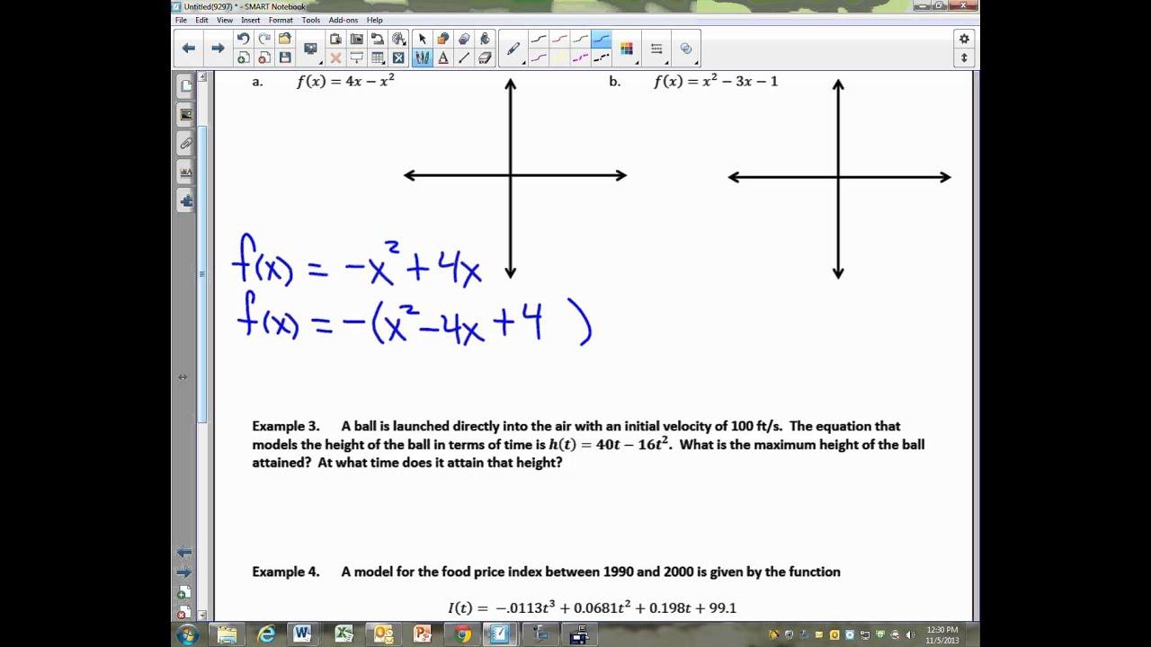 Precalculus unit 26 notes quadratic functions in vertex form precalculus unit 26 notes quadratic functions in vertex form falaconquin