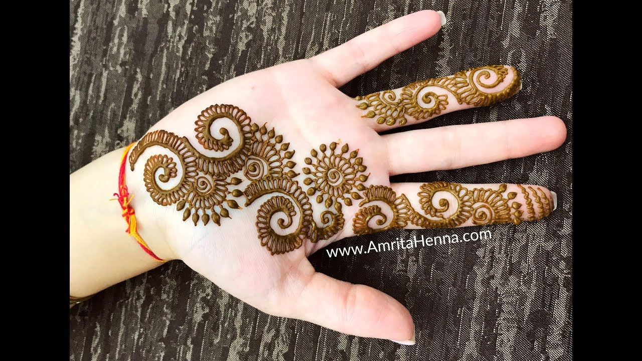 Quick Mehndi Henna Design To Try 2018 Best Easy Mehendi Design