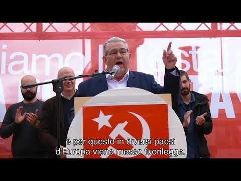 "koutsoumpas-(kke)-a-roma:-""ogni-voto-per-i-comunisti-alle-europee-rafforza-la-nostra-lotta!"""