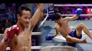 អត់បាន១ទឹកផង! Long Samrith Vs Poeurn Piseth, 02/December/2018, CNC Boxing