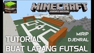 main minecraft tutorial bikin lapangan futsal