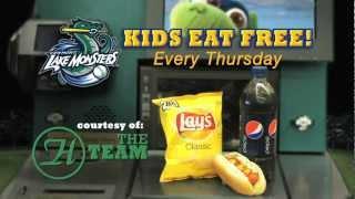 Kids Eat Free at Vermont Lake Monsters Thursdays!!