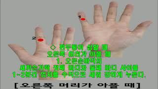 건강한 삶 - 머리 아플 땐 '손가락 누르기'