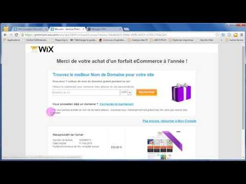Wix booster et associer nom de domaine