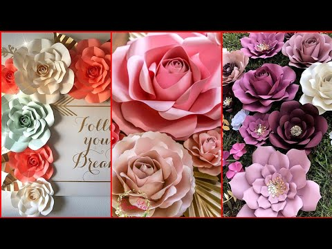 Beautiful Paper Flower Backdrop Ideas Classycloud Co