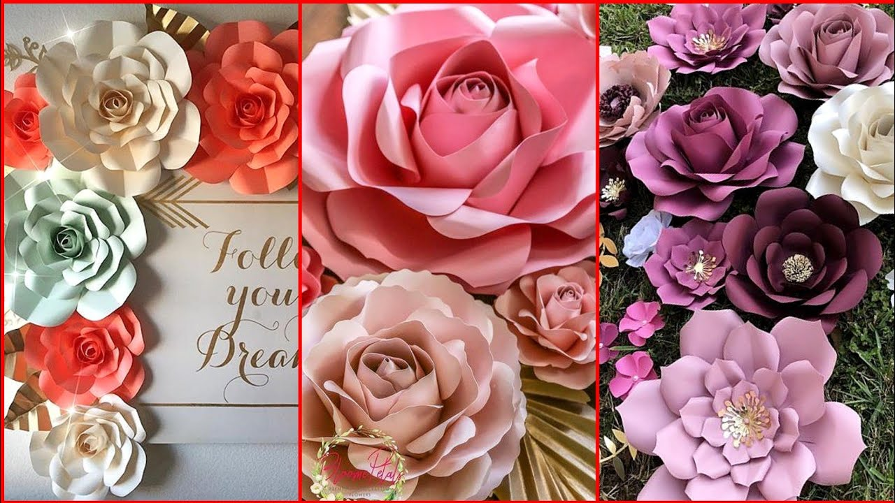Most Beautiful Paper Flower Backdrop Ideas For Decoration Stylish Paper Flower Backdrop
