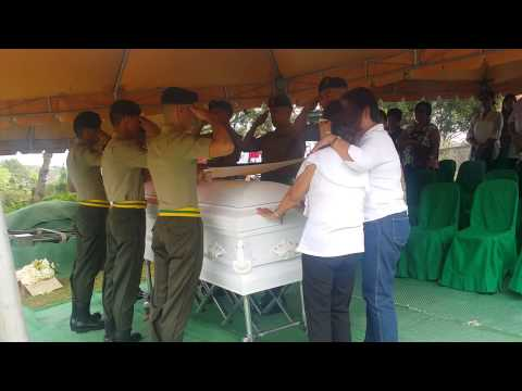 Lolo's Burial - 21-Gun Salute And Flag Folding