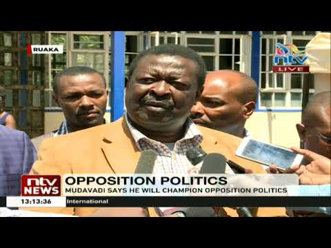 ANC leader Musalia Mudavadi has insisted he is not joining the government
