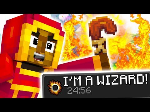 VANILLA MINECRAFT REALMS WIZARD MOD - HOW TO DO MAGIC WITHOUT MODS - SORCERER'S BOOK 2 | JeromeASF