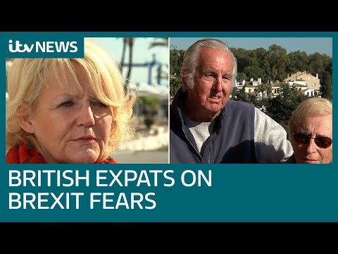 British expats in Spain speak of healthcare and jobs fears as Brexit looms | ITV News