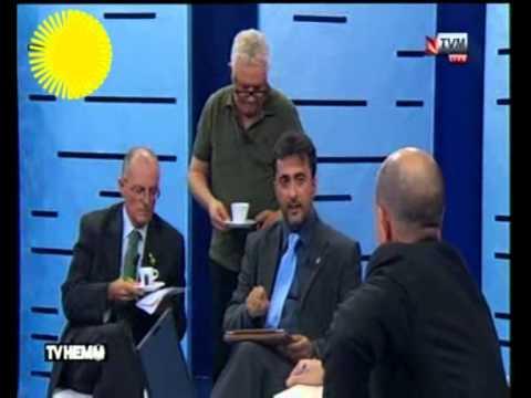 Prof. Cassola talking politics on TV Hemm